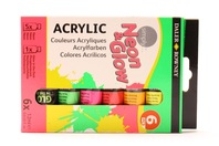Farby fluoresencyjne Neon Simply Daler Rowney 6x12ml